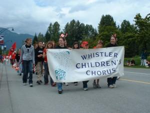 Chorus on parade