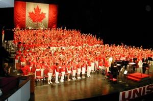 massed choir in NAC
