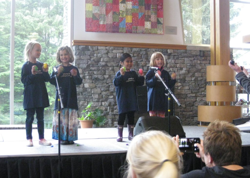 Kinderchoir at the Multicultural Festival.